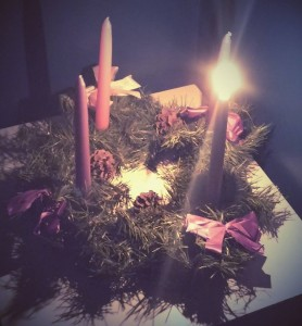 Our wreath last week on the 1st Sunday of Advent.