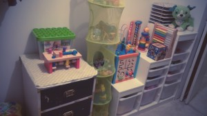 My son's toys, organized
